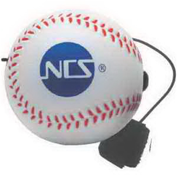 Custom Baseball Yo-Yo Bungee Stress Reliever