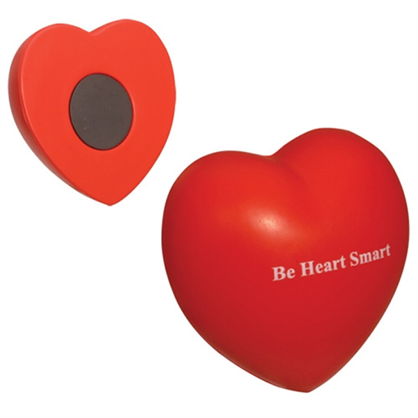 Promotional Valentine Heart Stress reliever magnet