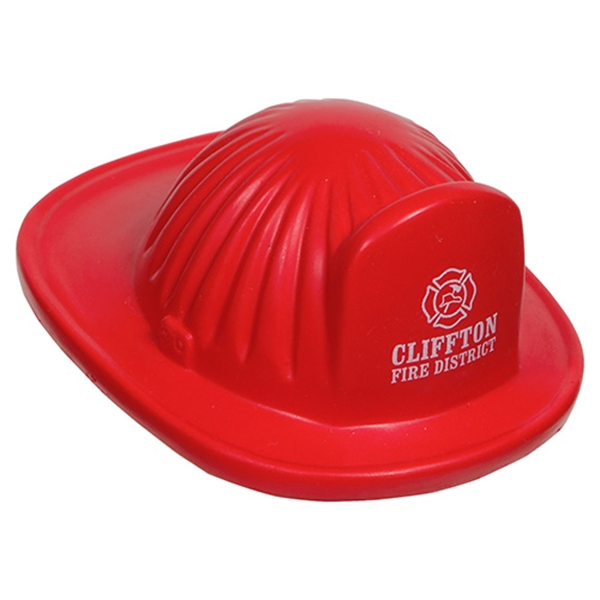 Imprinted Fire Helmet Stress reliever