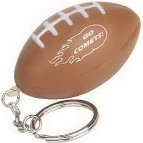 Custom Football Key Chain Stress Reliever