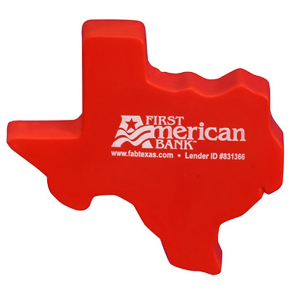 Imprinted Texas Shape Stress Reliever