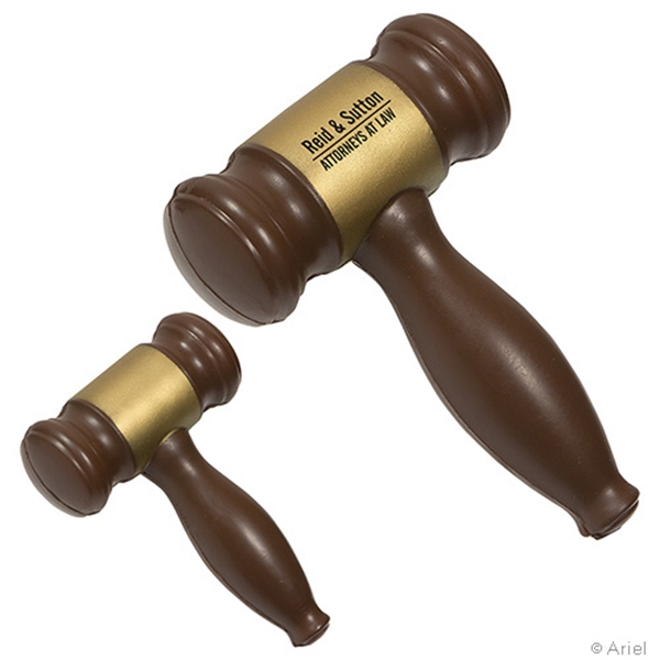 Printed Gavel Stress Reliever
