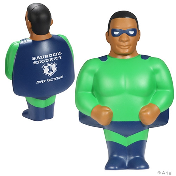 Custom African American Super Hero Stress Reliever