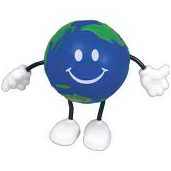 Imprinted Earthball Figure Stress Reliever