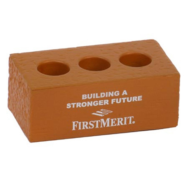 Custom Brick With Holes Stress Reliever