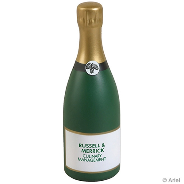 Customized Champagne Bottle Stress Reliever