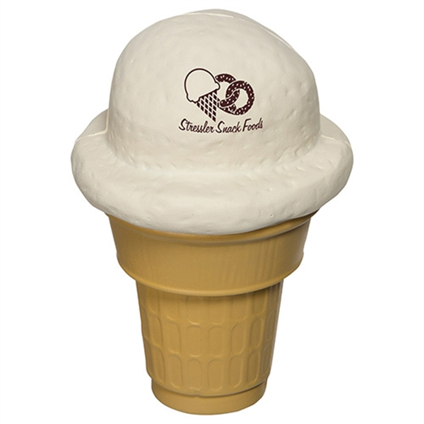 Imprinted Ice Cream Cone Stress Reliever