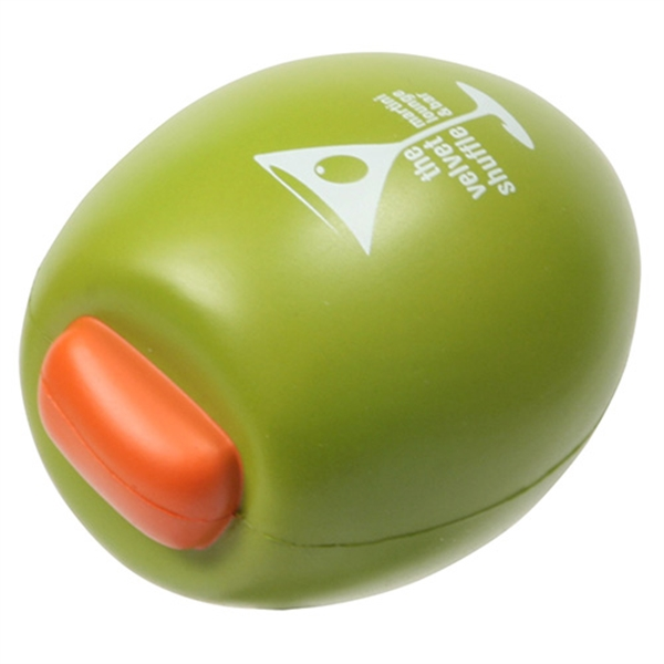 Imprinted Olive Stress Reliever
