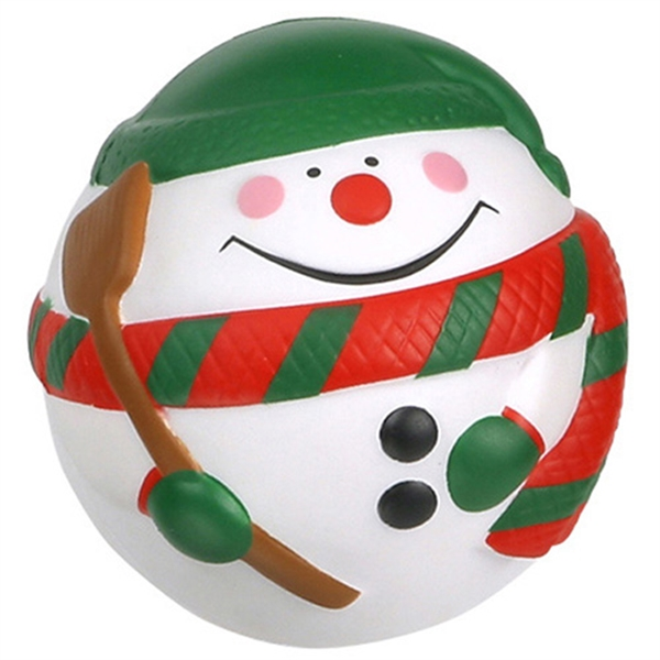 Personalized Snowman ball Stress Reliever