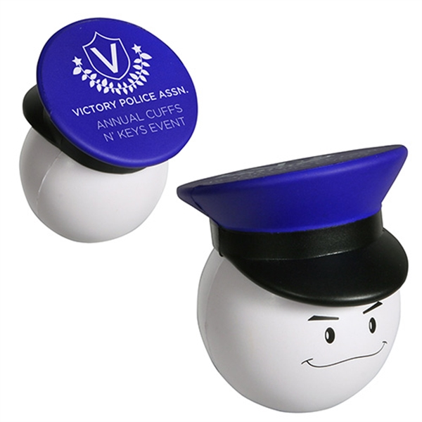 Personalized Policeman Mad Cap Stress Reliever
