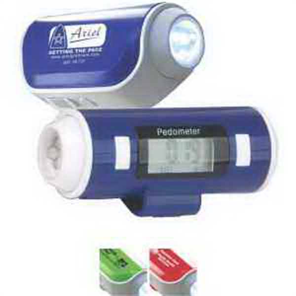 Printed Flashlight & Siren Pedometer