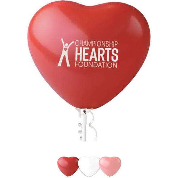"Personalized 11"" Heart Latex Balloon"