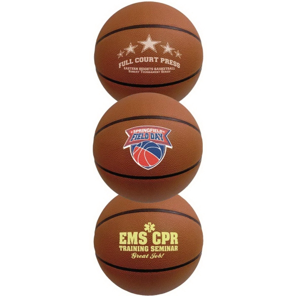 Imprinted Full Size Synthetic Leather Basketball