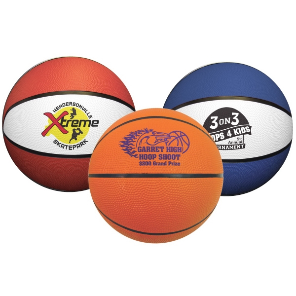 Printed Mini Rubber Basketball
