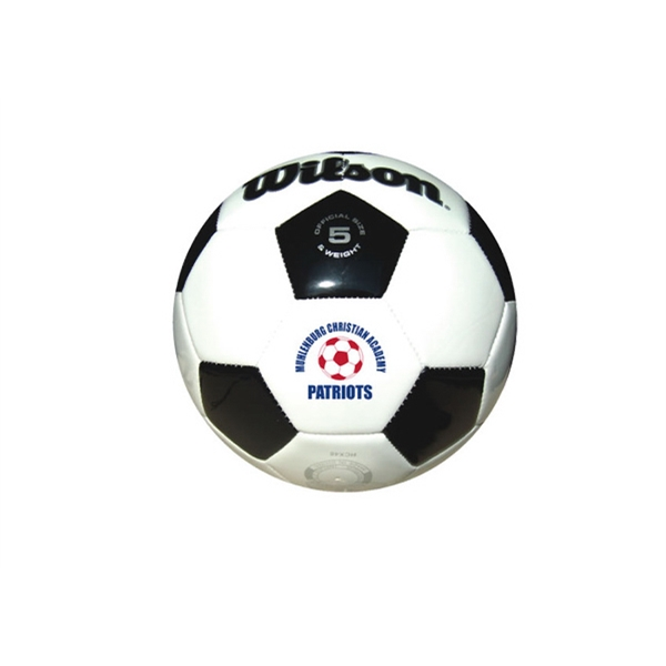 Imprinted Wilson (R) Premium Synthetic Leather Soccer Ball