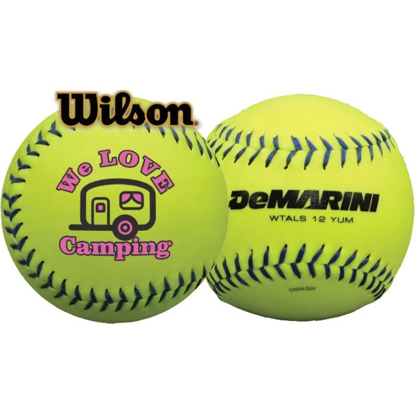 Custom Wilson (R) Official Synthetic Optic Yellow Softball