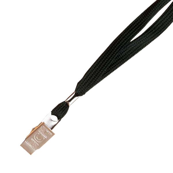 "Printed 5/8"" Plain Lanyard with 1 bulldog clip"