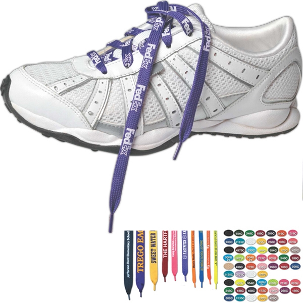 "Imprinted 36"" Biodegradable Shoelaces"