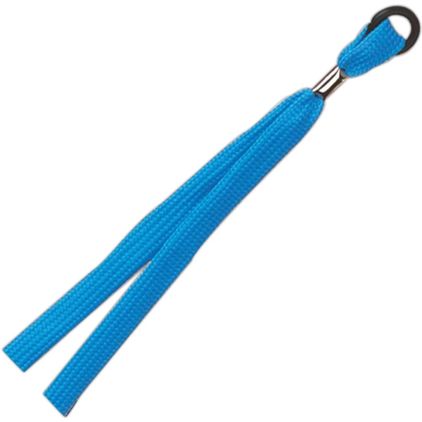 "Personalized 3/8"" Plain Lanyard with rubber o-ring"