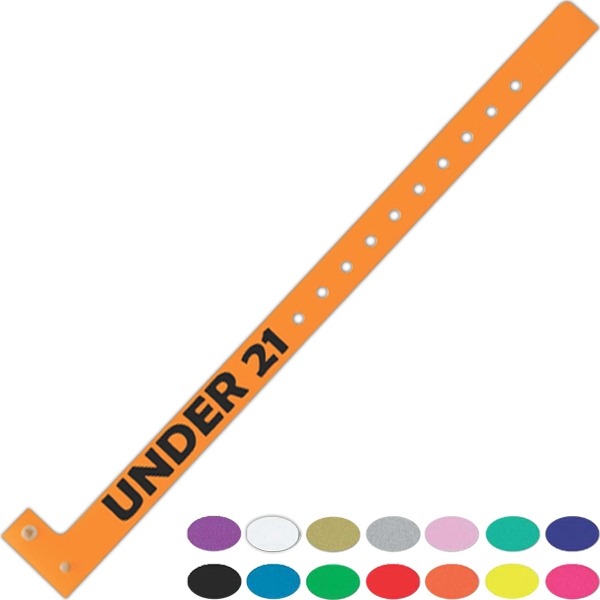 Printed Narrow Plastic Wristband