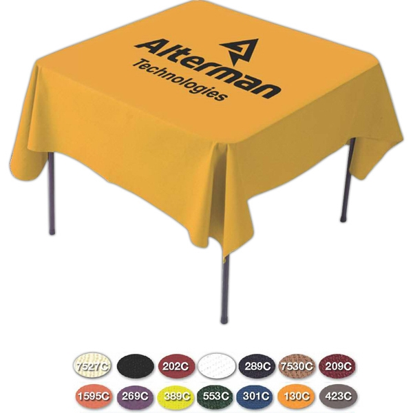 Printed Card Draped Table Cloth