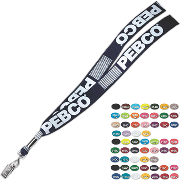 Custom Swivel Bulldog Direct Screen Printed Lanyard