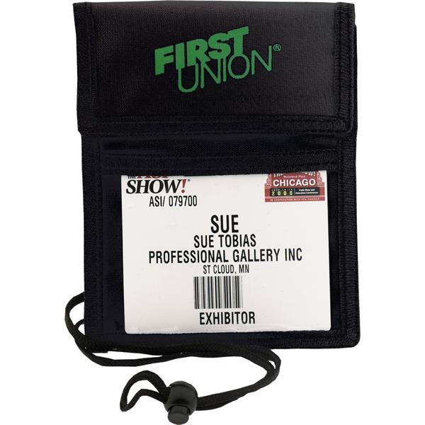 Printed Trade Show Badge Pouch with Flap