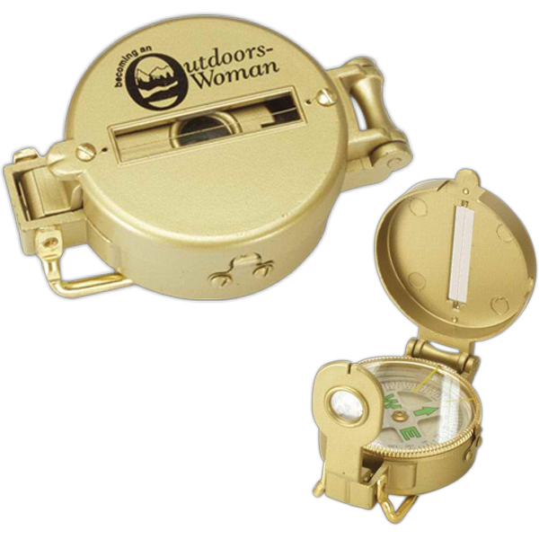 Personalized Gold Survival Compass