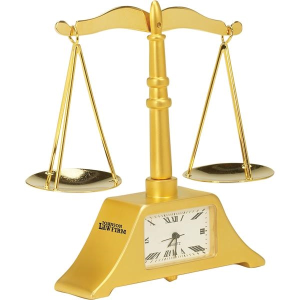 Custom Die Cast Scale of Justice Clock