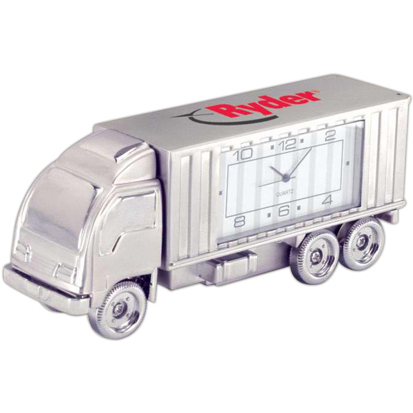 Promotional Die Cast Semi Truck Clock