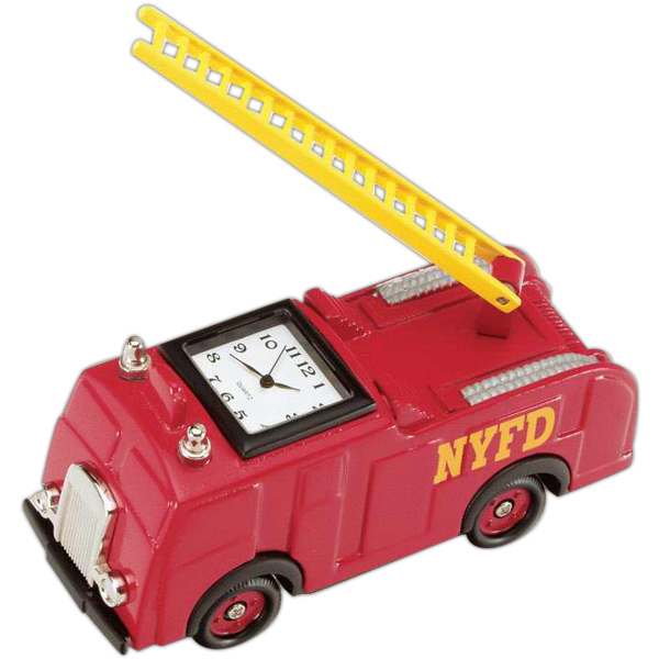 Promotional Die Cast Fire Engine Clock