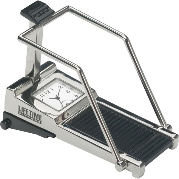 Customized Silver Metal Treadmill Clock