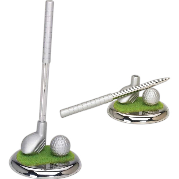 Customized Silver Metal Golf Club Pen Set