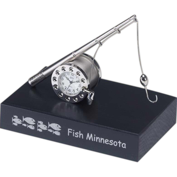 Personalized Metal Fishing Clock