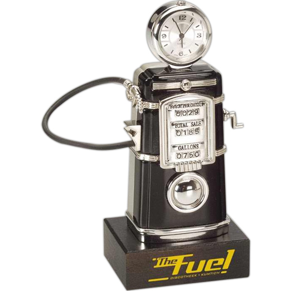 Promotional Die Case Fuel Pump Clock