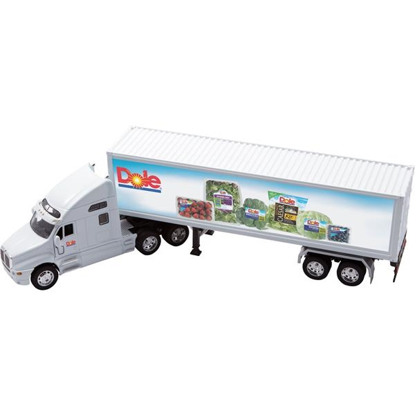 Imprinted White Kenworth T2000 with Trailer