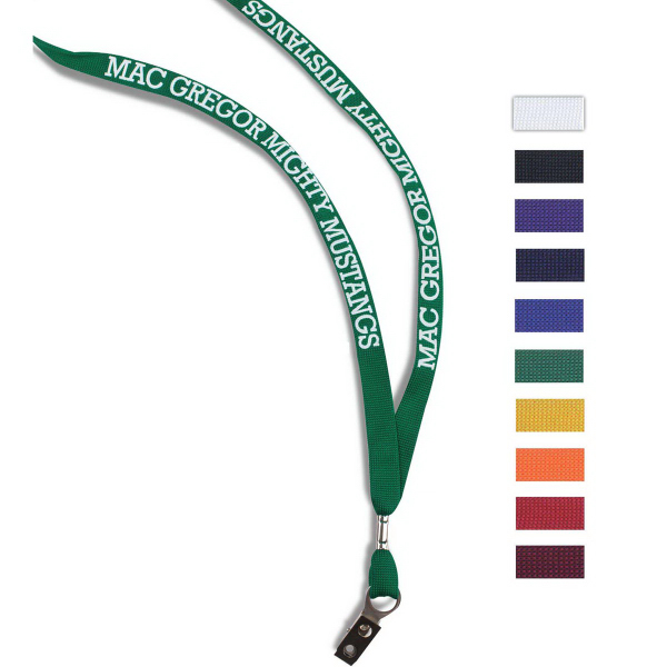 Imprinted 2-Ply Poly Lanyard
