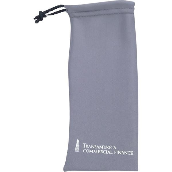 Printed Cleaning Cloth Drawstring Pouch