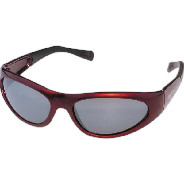 Customized Crimson Wrap Sunglasses