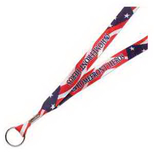 Printed Full Color Satin Ribbon Lanyard