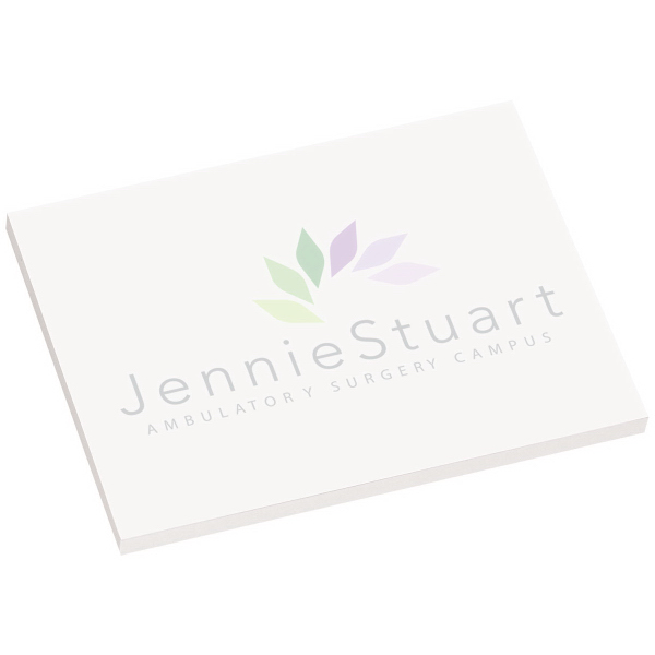 "Printed 4"" x 3"" Earth Friendly Adhesive Notepad"