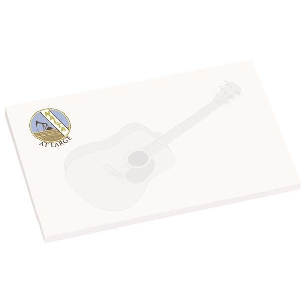 "Imprinted 5"" x 3"" Earth Friendly Adhesive Notepad"