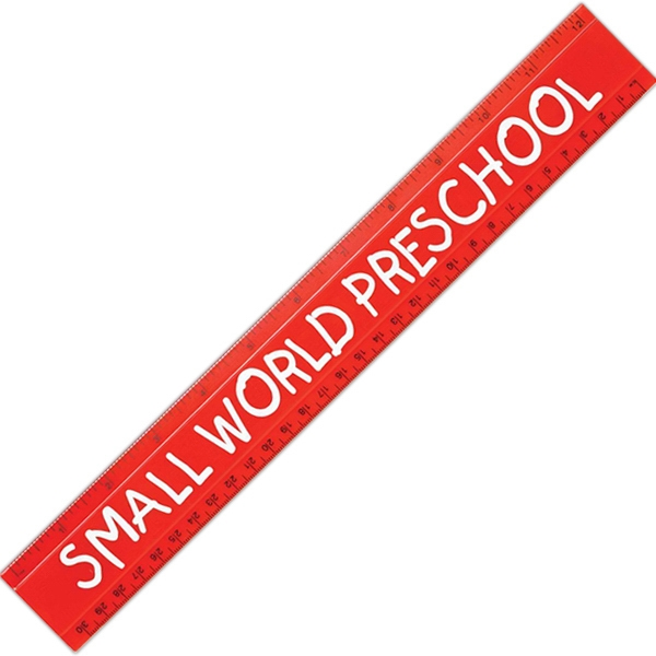 "Imprinted 12"" Plastic Ruler"