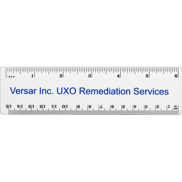 "Custom 6"" Plastic Ruler"