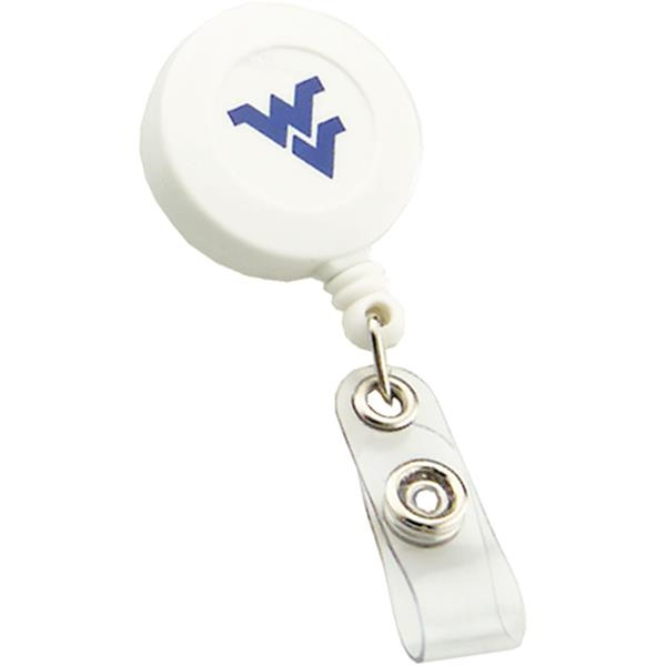 Custom Retractable Badge Reel with Swivel Bulldog Clip