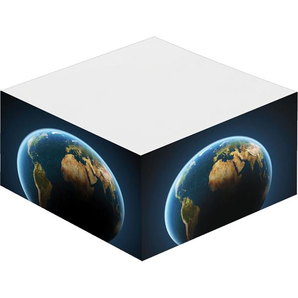 "Printed 3"" x 3"" Half Cube Earth Friendly Adhesive Notepad"