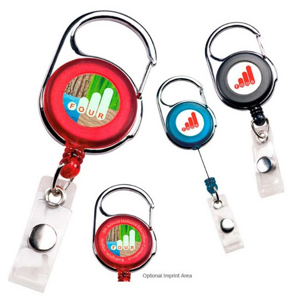 Promotional Carabiner Badge Holder