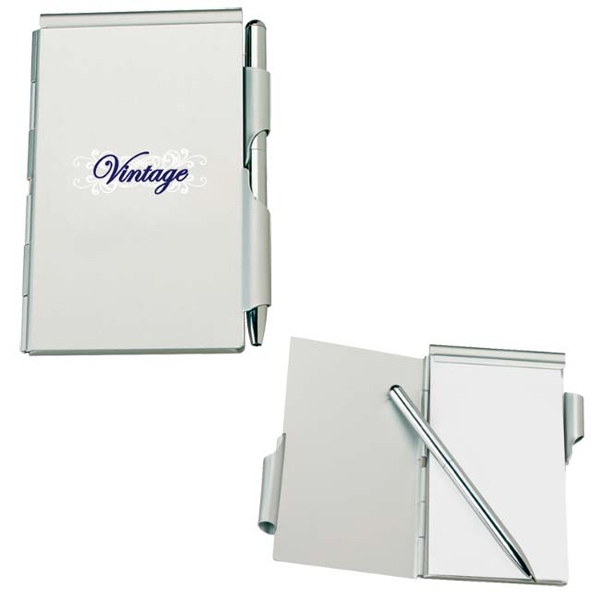 Imprinted Aluminum Jotter Pad with Pen