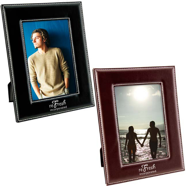 Personalized 4X6 Leatherette Frame
