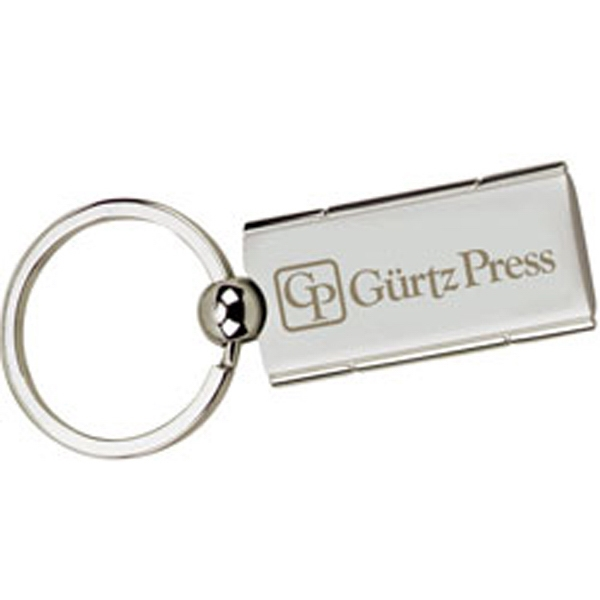 Custom Satin Rectangle Swivel Key Holder